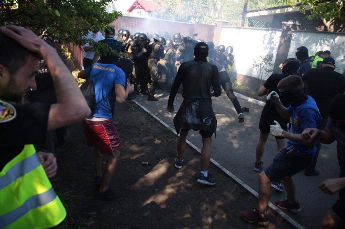 Полиция: Будем потом давать соответствующую квалификацию этим событиям / Фото facebook.com/politicalpartynationalcorps
