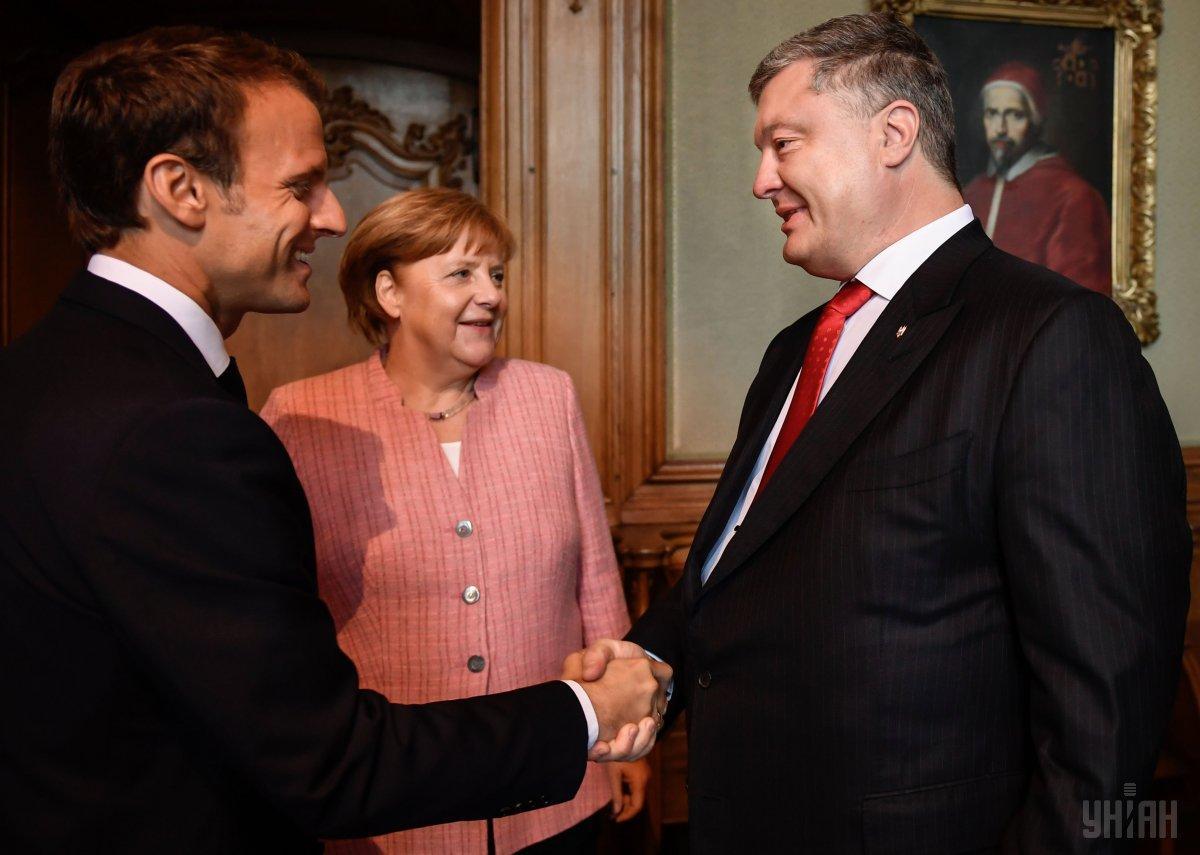 Порошенко, Меркель и Макрону было что обсудить на встрече без Путина / УНИАН