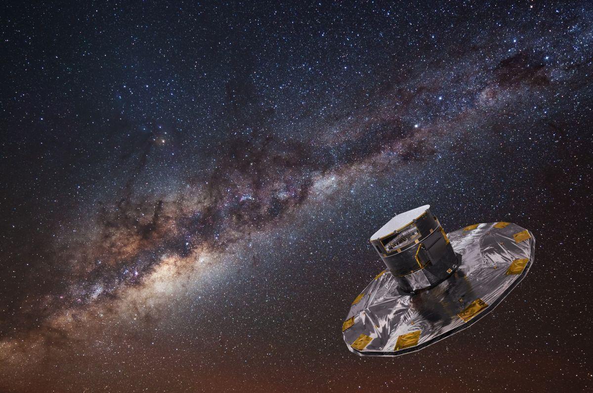 Космический аппарат Gaia / иллюстрация ESA/ATG medialab; ESO/S