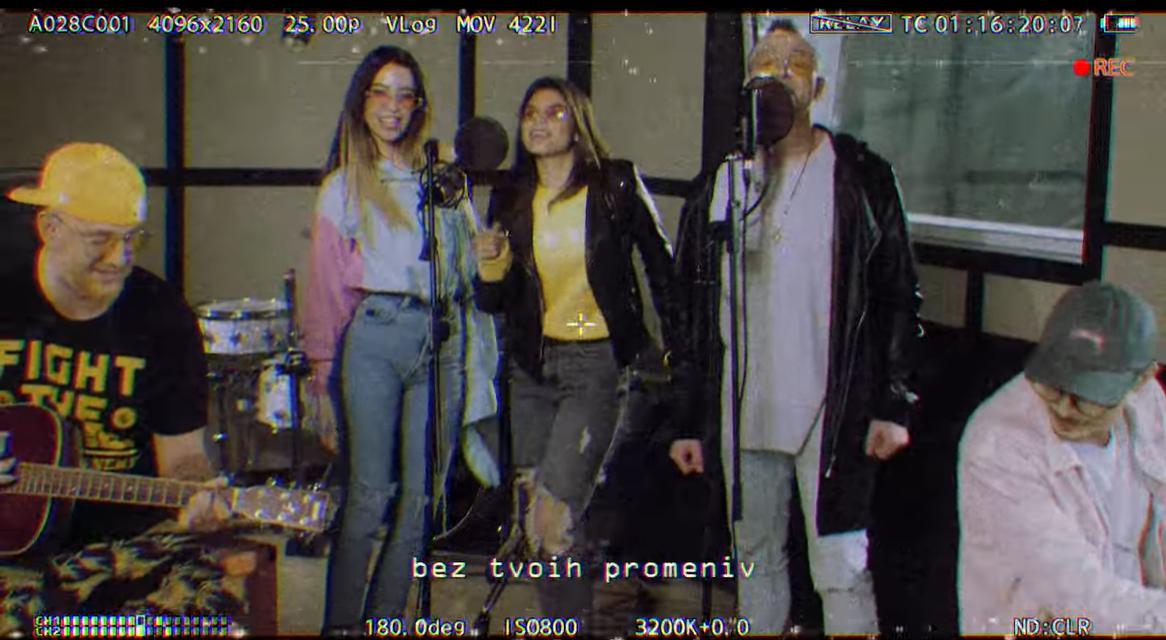 """""""Время и стекло"""", Мішель Андраде та Mozgi записали спільну пісню / скріншот"""
