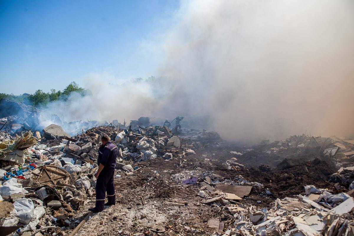 В Днепре горит свалка / фото Евгений Ошарин / Информатор