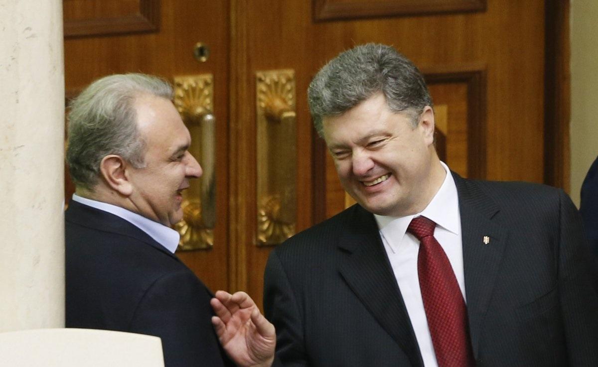 Давид Жвания и Петр Порошенко / УНИАН