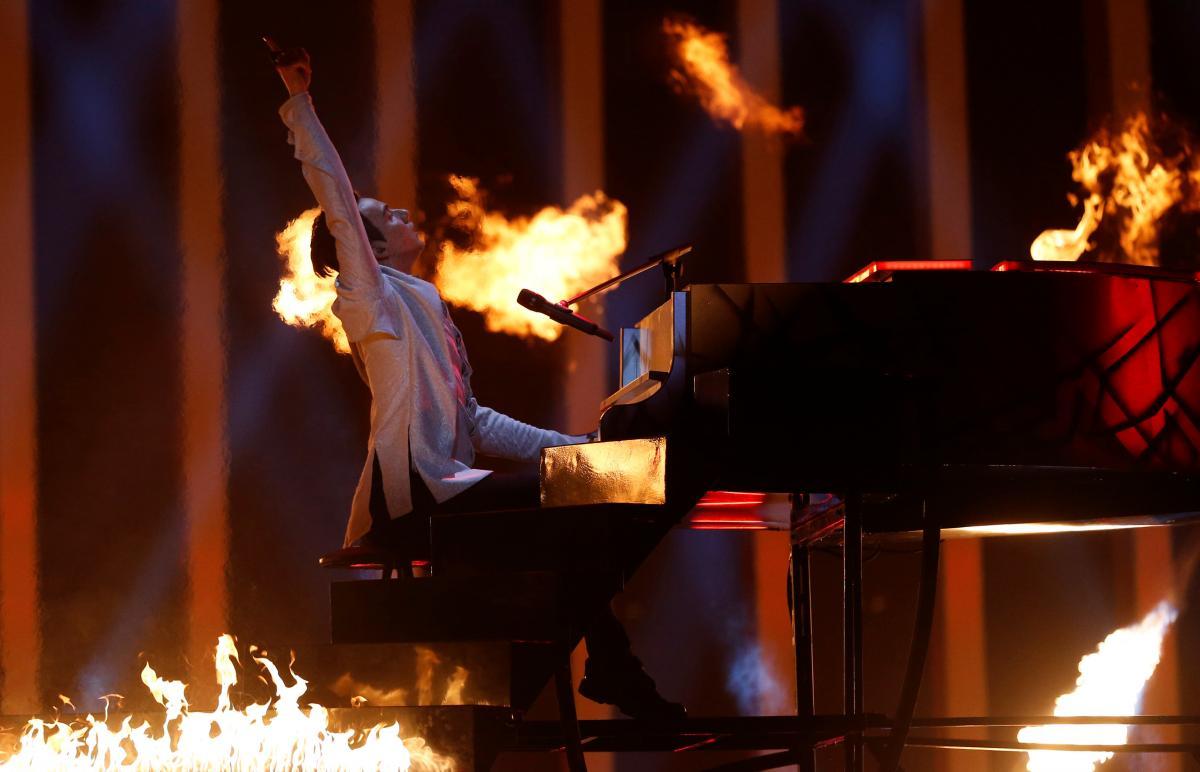 MELOVIN во время второго полуфинала Евровидения-2018 / REUTERS