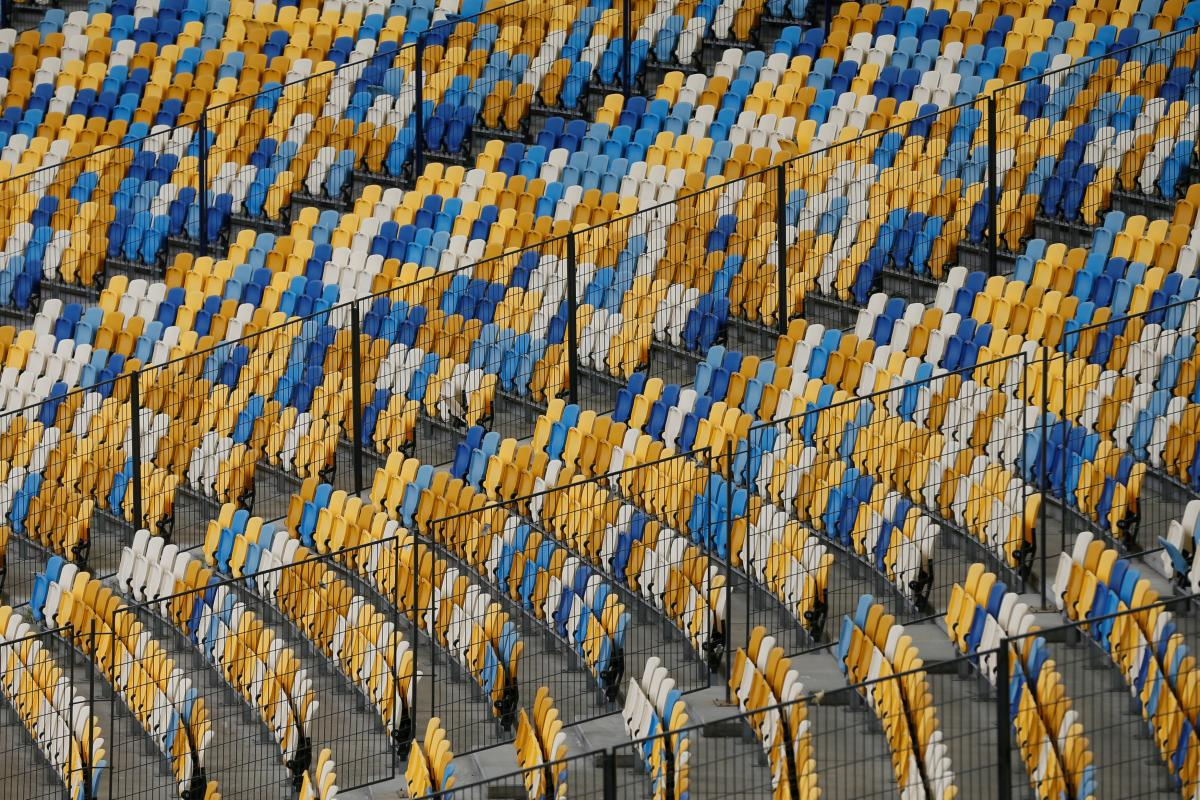 Трибуны Олимпийского в Киеве / фото REUTERS