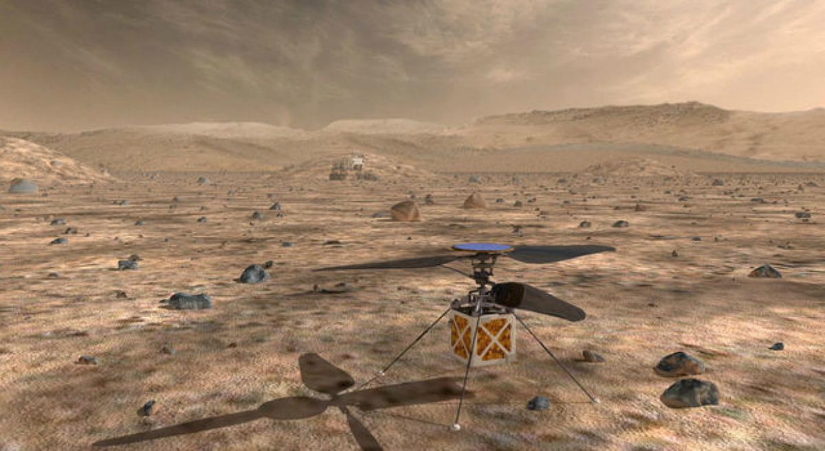 Двойной винт Mars Helicopter способен вращаться со скоростью в 10 раз больше земных вертолетов / REUTERS