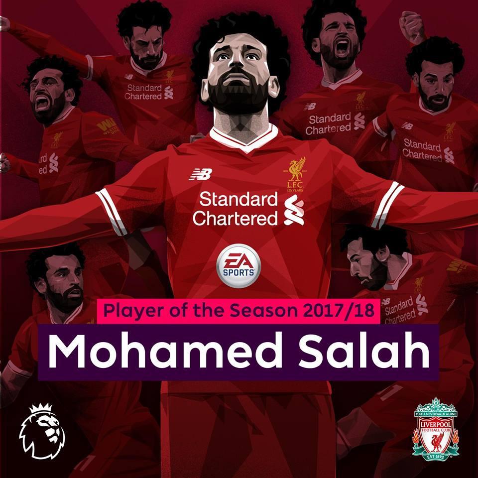 Мохамед Салах визнаний кращим футболістом сезону в англійській прем'єр-лізі / офіційний твіттер АПЛ