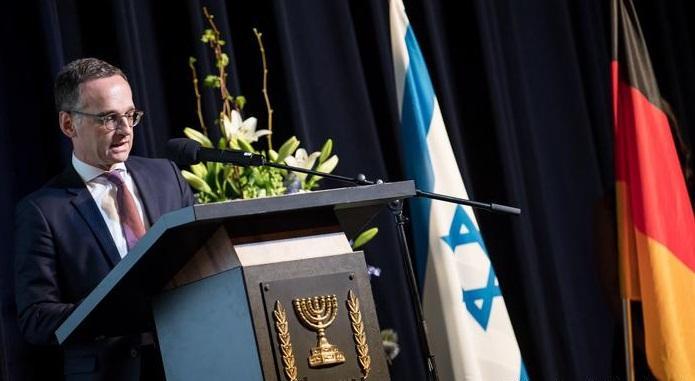 Хайко Мас на прийомі в ізраїльському посольстві в Берліні / lechaim.ru