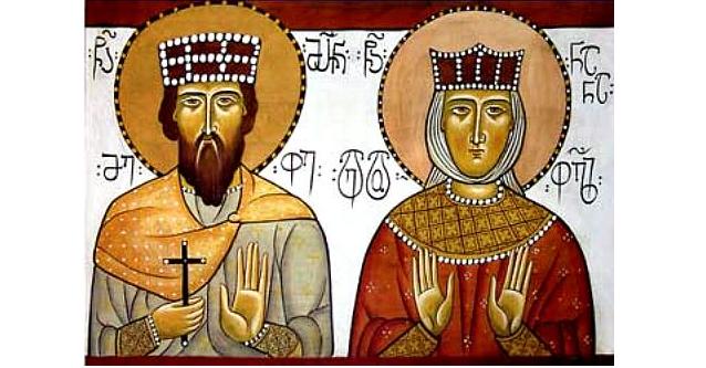 Царь Иверский Мириан и святая царица Нана / holytrinityorthodox.com