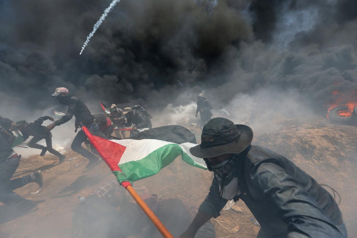 Протесты в Секторе Газа / REUTERS