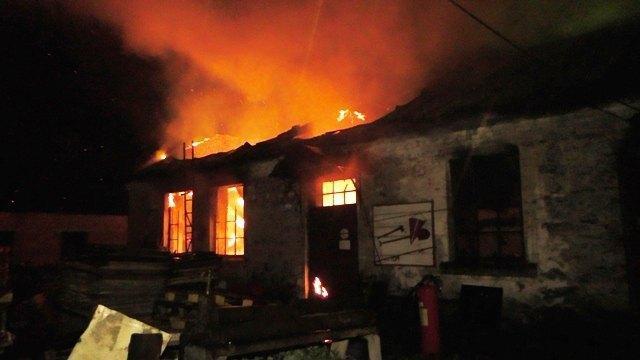В Коростышеве произошел пожар на территории бумажной фабрики / most-dnepr.info