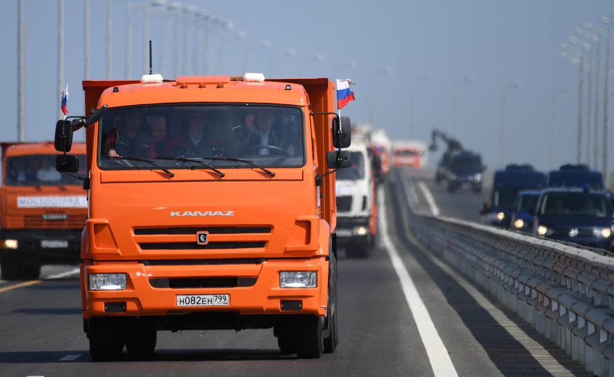 Владимир Путин на открытии Крымского моста / REUTERS