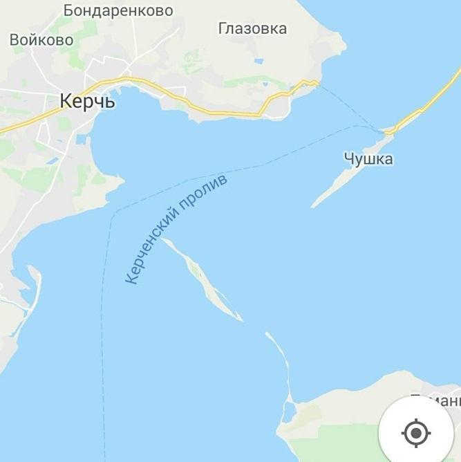 На Google Maps відсутнійКримський міст / фото twitter.com/korzhavin