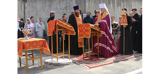 Перед початком робіт митрополит Курський і Рильський Герман відслужив молебень / kursk.com