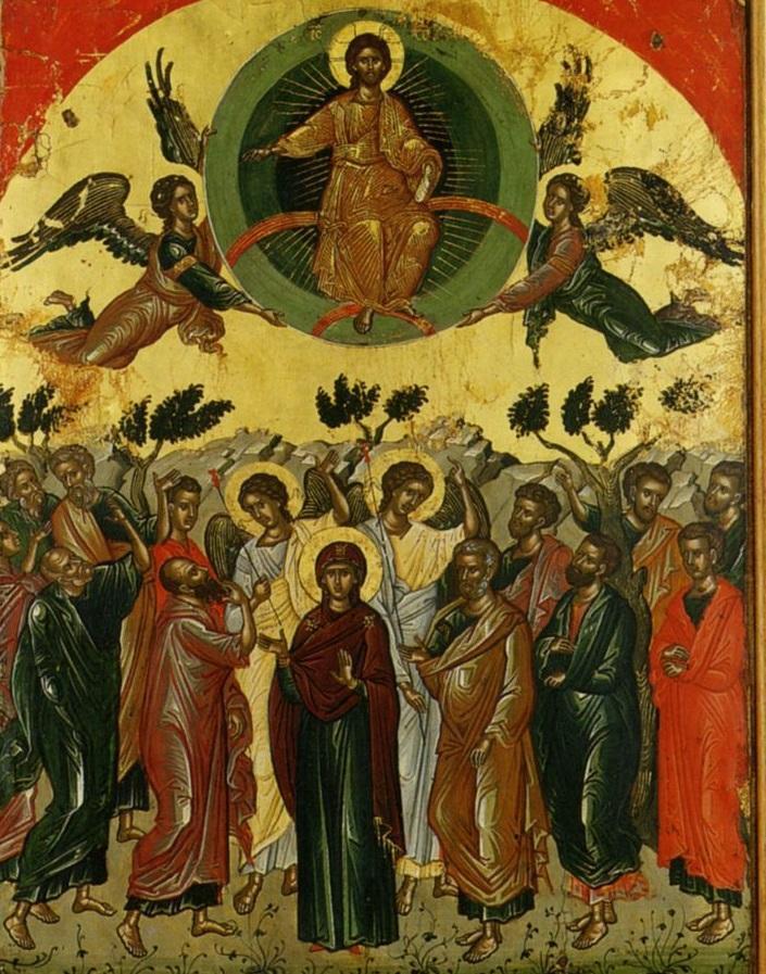 Вознесение Господне. Икона 1546 года. Афон, монастырь Ставроникита.