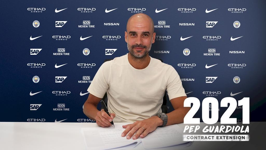Хосеп Гвардиола подписал контракт до 2021 года / mancity.com