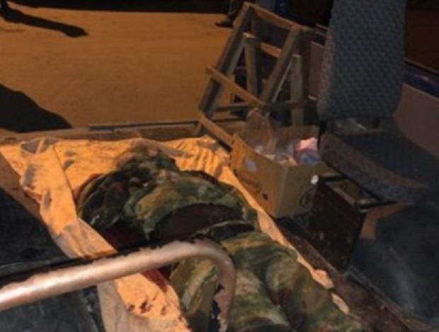 Жінка була одягнена у камуфляж / фото twitter.com/den_kazansky