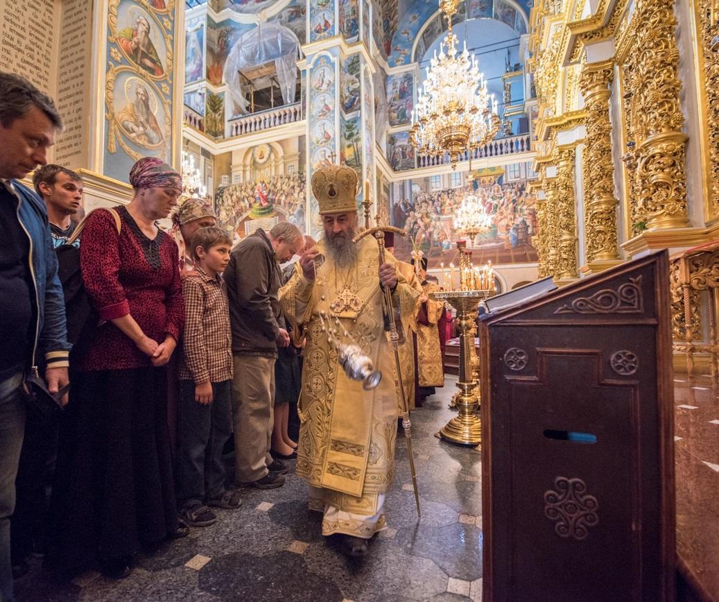Предстоятель УПЦ очолив всенічне бдіння у Києво-Печерській лаврі / news.church.ua