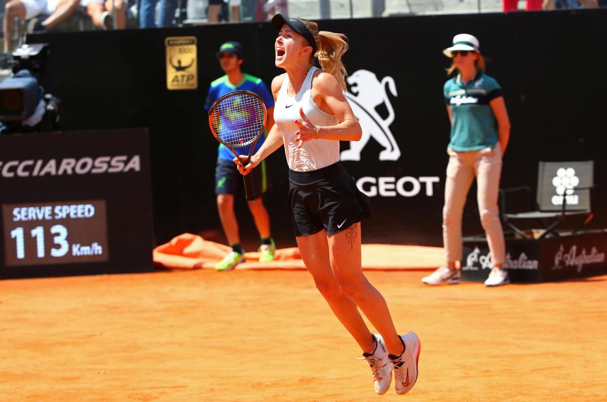 Элина Свитолина празднует победу в Риме / REUTERS