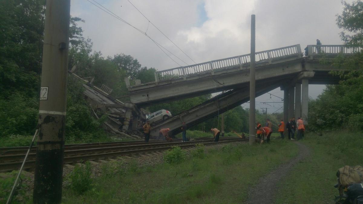 Мост расположен возле поселка Ивановка / фото: Вконтакте
