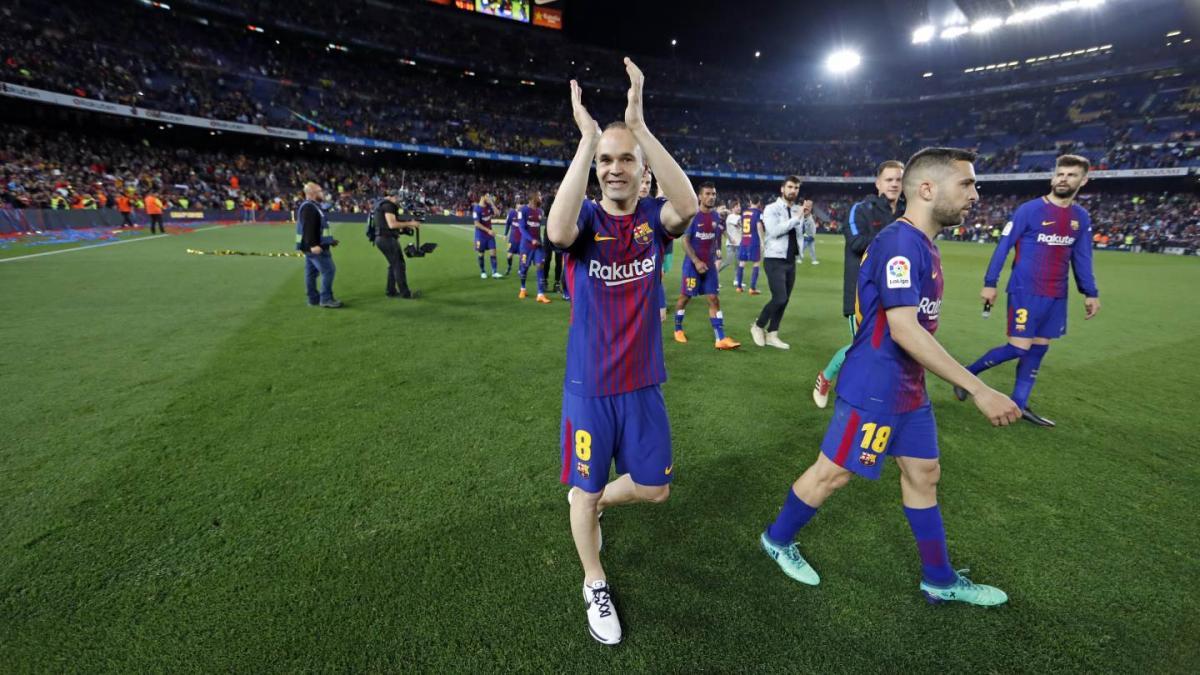 """Андрес Іньєста зіграв останній матч за """"Барселону"""" / twitter.com/FCBarcelona"""