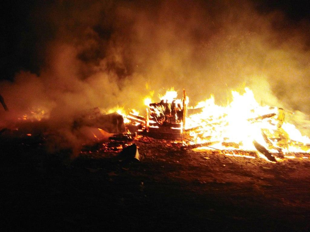 ВЖитомирской областисгорела деревянная церковь / zhytomyr.dsns.gov.ua/ua