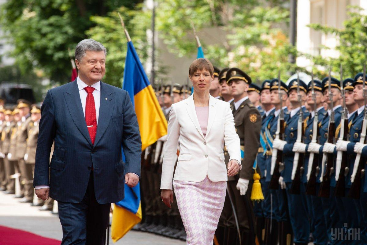 Poroshenko and Kaljulaid / Photo from UNIAN
