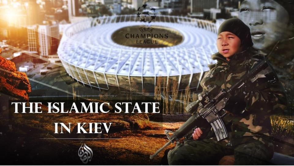 Боевики ИГИЛопубликовали плакаты с угрозами болельщикам в Киеве / The Sun