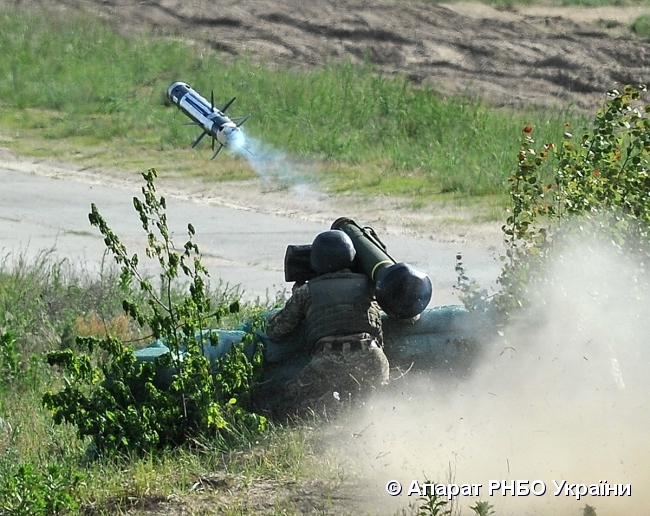 The U.S. Administration decided late in 2017 to sell Ukraine Javelin systems / Photo from rnbo.gov.ua