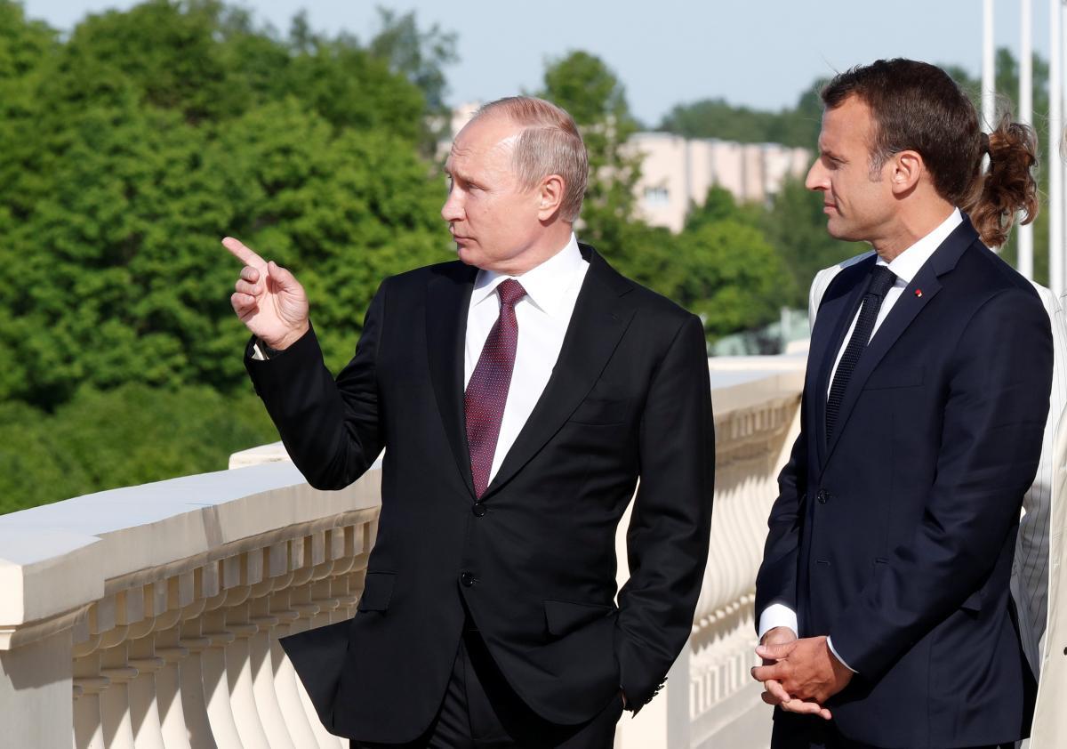 Володимир Путін та Еммануель Макрон / REUTERS