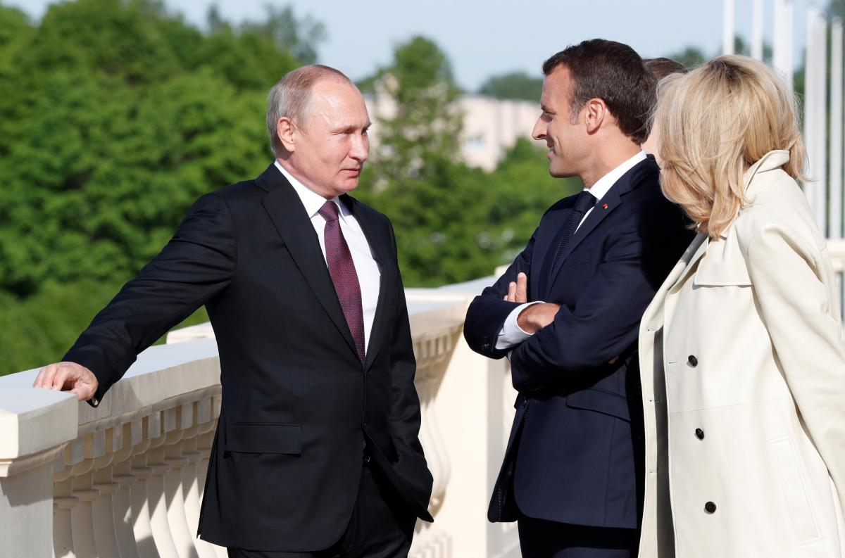 Володимир Путін та Еммануель Макрон / фото REUTERS