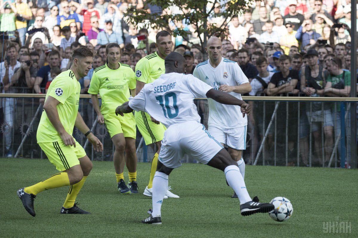 Команда друзей Шевченко и Реал сыграли вничью  УНИАН