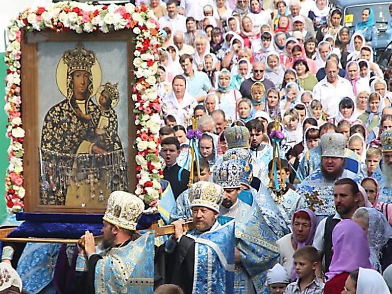 """В Мелитополь пребывает чудотворная икона Божией Матери """"Подольская"""" / hramzp.ua"""