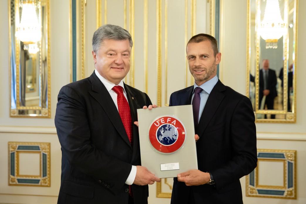 Президент України провів зустріч з Президентом УЄФА / фото president.gov.ua