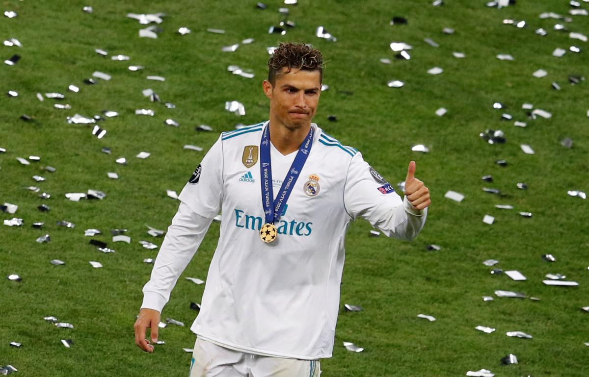 Роналду— первый игрок вистории, выигравший Лигу чемпионов пять раз