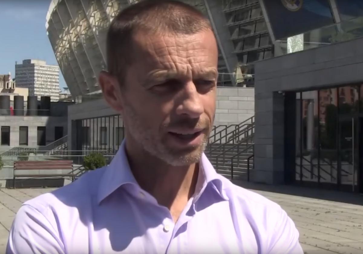 Президент УЕФА Александр Чеферин / скриншот