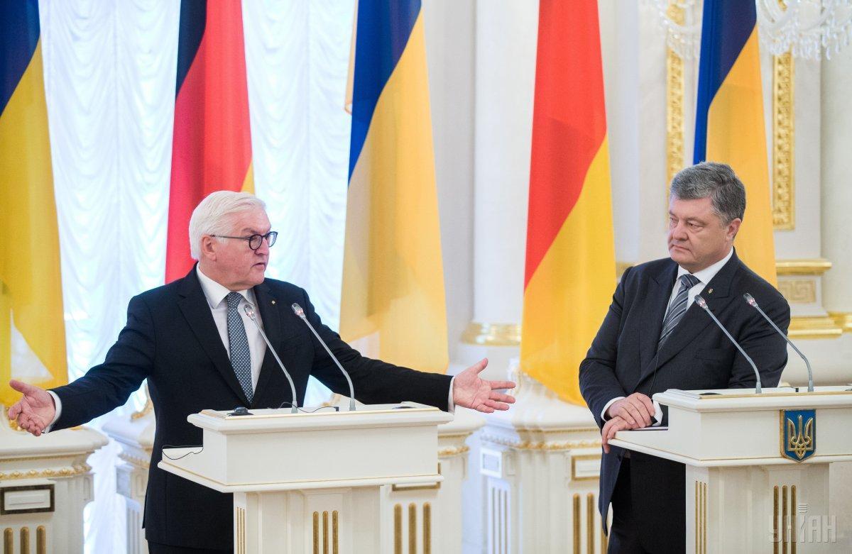 Он заявил, что Германия готова продолжать вместе с европейскими партнерами помогать Украине / фото УНИАН