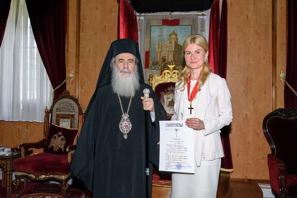 Юлія Світлична зустрілась з Патріархом Єрусалимським / facebook.com/svit.yuliya