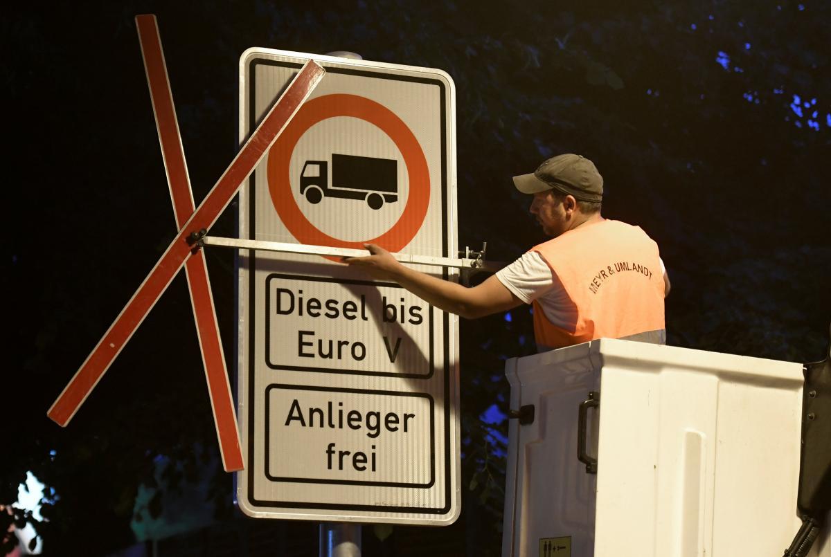 ВГермании вступили всилу первые запреты для дизельных авто