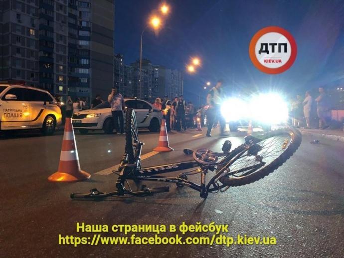 Авто из сопровождения Порошенко сбило подростка / dtp.kiev.ua