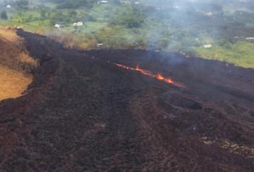 Вулкан на Гавайях разрушил несколько домов