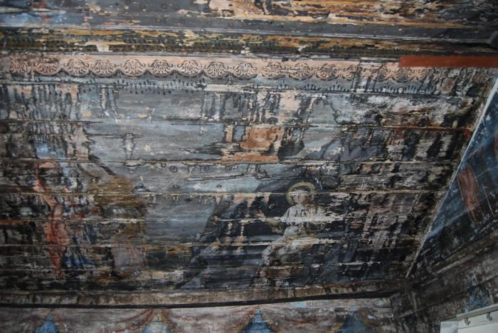 У дерев'яній церкві Середнього Водяного, на Рахівщині, виявлено стародавні розписи / uzhgorod.net.ua