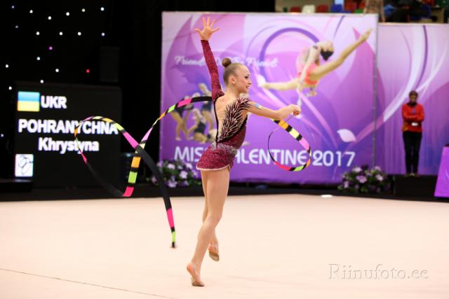 Христина Погранична виграла три медалі в індивідуальних змаганнях ЧЕ / Федерація гімнастики України