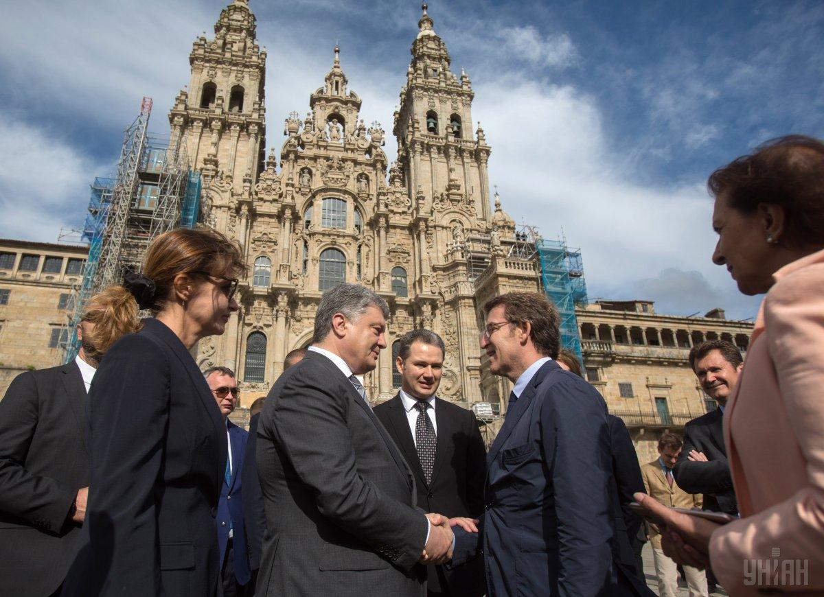 Poroshenko in Madrid / Photo from UNIAN