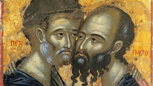 Ікона Петра і Павла. Монастир Каракал. Афон / фото athos-ukraine.com