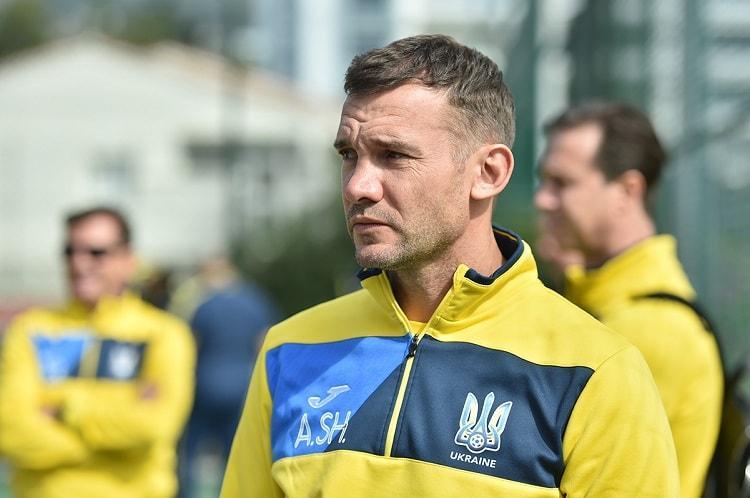 Андрій Шевченко задоволений грою своїх підопічних у матчі з Албанією / ffu.ua
