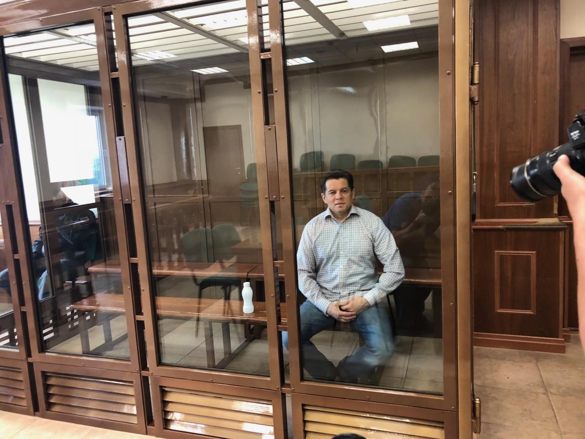Сущенко на суде в Москве / фото УНИАН