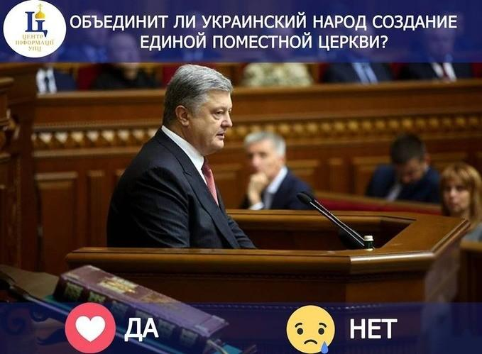 Опитування Центру інформації УПЦ / facebook.com/church.information.center