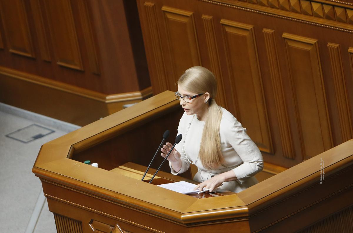Тимошенко заявляет, что действующей власти через 6 месяцев наступит политический конец / Photo by Alexander Prokopenko
