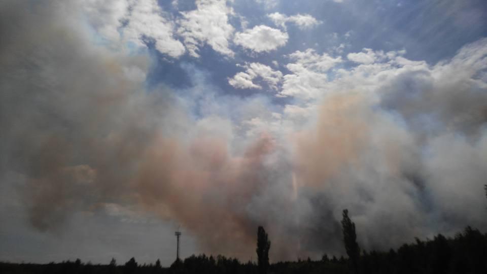 Масштабна пожежа у Чорнобилі