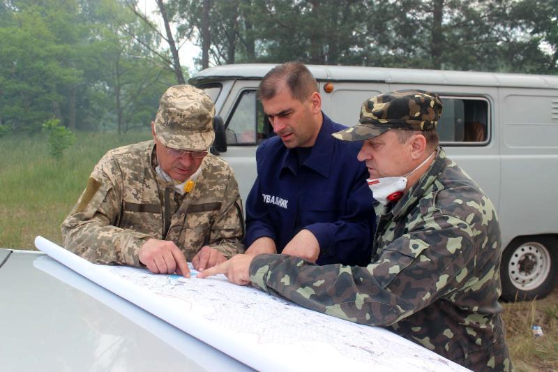 На місці пожежі і в Києві здійснюється посилений дозиметричний контроль / ДСНС